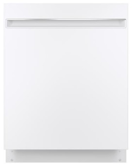 "GDT225SGLWW GE 24"" Built In Dishwasher with Piranha Hard Food Dispenser and AutoSense Cycle - White"