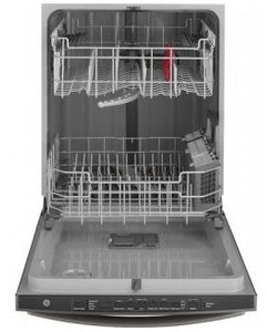 """GDT605PBMTS GE 24"""" Top Control Built-In Dishwasher with Dry Boost and Steam Prewash - Black Stainless Steel"""