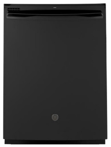 """GDT605PGMBB GE 24"""" Top Control Built-In Dishwasher with Dry Boost and Steam Prewash - Black"""