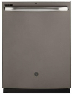 "GDT605PMMES GE 24"" Top Control Built-In Dishwasher with Dry Boost and Steam Prewash - Slate"