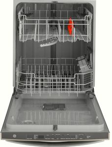 """GDT605PMMES GE 24"""" Top Control Built-In Dishwasher with Dry Boost and Steam Prewash - Slate"""