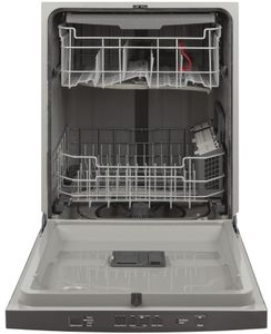 "GDT630PFMDS GE 24"" Top Control Built In Dishwasher with Dry Boost and Steam Prewash - Black Slate"