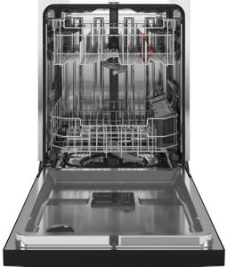 """GDT645SGNBB GE 24"""" Stainless Interior Hidden Control Dishwasher with Dry Boost and Piranha Food Disposer - Black"""