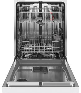 """GDT645SGNWW GE 24"""" Stainless Interior Hidden Control Dishwasher with Dry Boost and Piranha Food Disposer - White"""