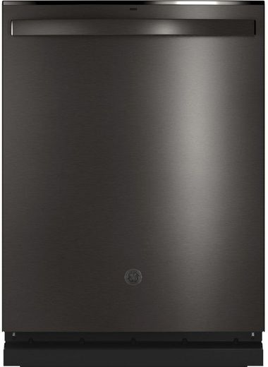 "GDT665SBNTS GE 24"" Stainless Interior Hidden Control Dishwasher with Dry Boost and Piranha Food Dispenser - Black Stainless Steel"