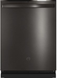 """GDT665SBNTS GE 24"""" Stainless Interior Hidden Control Dishwasher with Dry Boost and Piranha Food Dispenser - Black Stainless Steel"""