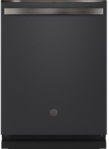 """GDT665SFNDS GE 24"""" Stainless Interior Hidden Control Dishwasher with Dry Boost and Piranha Food Disposer - Black Slate"""