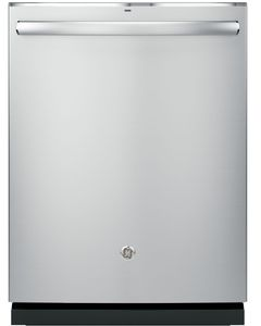 """GDT695SSJSS GE 24"""" Stainless Steel Interior Dishwasher with Piranha Food Disposer and Third Rack - Stainless Steel"""