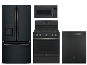 Package GEBS2 - GE Appliance Package - 4 Piece Appliance Package with Gas Range - Black Slate