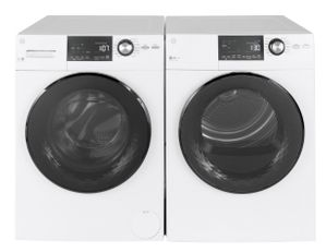 "GFD14ESSNWW GE 24"" 4.3 cu. ft. Front Load Electric Dryer with HE Sensor Dry and Stainless Steel Drum - White"