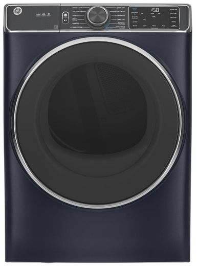 """GFD85ESPNRS GE 28"""" 7.8 cu. ft. Front Load Electric Dryer with Steam, WiFi and Sanitize Cycle - Royal Sapphire"""