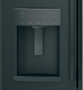 "GFE28GGKBB GE 36"" 27.8 Cu. Ft. French-Door Bottom Freezer Refrigerator With Showcase LED Lighting - Black Slate"