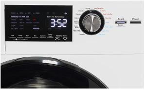 "GFQ14ESSNWW GE 24"" 2.4 cu. ft. Front Load Combination Washer and Dryer - White"