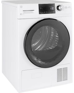 "GFT14ESSNWW GE 24"" 4.1 cu. ft. Ventless Condenser Front Load Electric Dryer with HE Sensor Dry and Stainless Steel Drum - White"