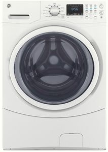 "GFW430SSMWW GE 27"" 4.5 DOE Cu. Ft. Capacity Front Load Washer with Extended Tumble and Adaptive Vibration Control - White"