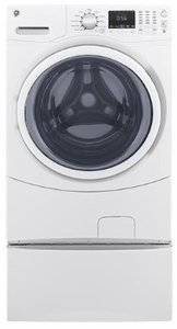 """GFW430SSMWW GE 27"""" 4.5 DOE Cu. Ft. Capacity Front Load Washer with Extended Tumble and Adaptive Vibration Control - White"""