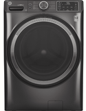 "GFW550SPNDG GE 28"" Front Load Washer 4.8 Cu. Ft. with OdorBlock, Wifi and Sanitize and Oxi - Diamond Gray"