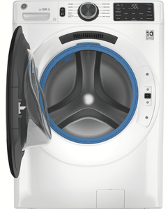 """GFW550SSNWW GE 28"""" Front Load Washer 4.8 Cu. Ft. with OdorBlock, Wifi and Sanitize and Oxi - White"""