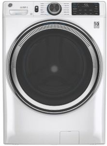 """GFW650SSNWW GE 28""""  Front Load Steam Washer 4.8 Cu. Ft. with SmartDispense, WiFi, OdorBlock and Sanitize and Allergen - White"""