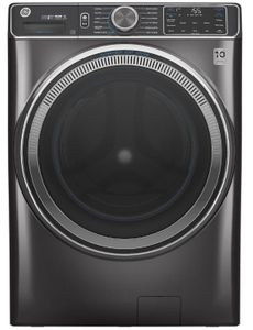 "GFW850SPNDG GE 28"" Front Load Steam Washer 5.0 Cu. Ft. with SmartDispense, WiFi, OdorBlock and Sanitize and Allergen - Diamond Gray"