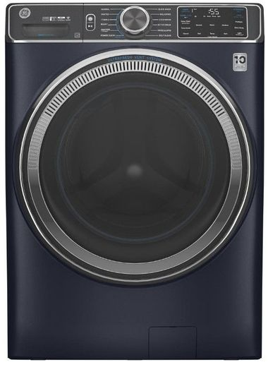 """GFW850SPNRS GE 28"""" Front Load Washer with Built In Wifi and SmartDispense and Reversible Door - Royal Sapphire"""