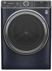 """GFW850SPNRS GE 28"""" Front Load Steam Washer 5.0 Cu. Ft. with SmartDispense, WiFi, OdorBlock and Sanitize and Allergen - Royal Sapphire"""
