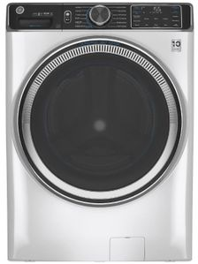 """GFW850SSNWW GE 28"""" Front Load Steam Washer 5.0 Cu. Ft. with SmartDispense, WiFi, OdorBlock and Sanitize and Allergen - White"""