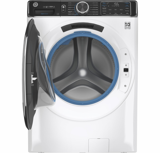 Capacity Diamond Grey Smart Front Load Energy Star Steam Washer with SmartDispense UltraFresh Vent System with OdorBlock GE 5.0 Cu Ft