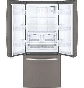 "GNE21FMKES GE 30"" Energy Star 20.8 Cu. Ft. French-Door Refrigerator with Factory-Installed Icemaker - Slate"