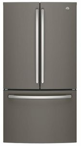 "GNE27JMMES GE 36"" 27.0 Cu. Ft. French Door Refrigerator with LED Lighting and Turbo Cool Setting - Slate"