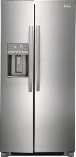 "GRSC2352AF Frigidaire Gallery 36"" 22.2 Cu. Ft. Counter Depth Side by Side Refrigerator - Smudge-Proof Stainless Steel"