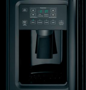"""GSS23GGKBB 33"""" GE  23.2 Cu. Ft. Side-By-Side Refrigerator with Ice Maker and Adjustable Gallon Door Bins - Black"""