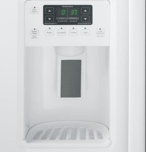 """GSS25GGHWW GE 25.4 Cu. Ft. Side-By-Side 36"""" Wide Refrigerator with Artica Icemaker - White"""