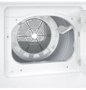 """GTD33GASKWW GE 27"""" Front Load Gas Dryer with 7.2 cu. ft. Capacity and Aluminnized Alloy Drum - White"""