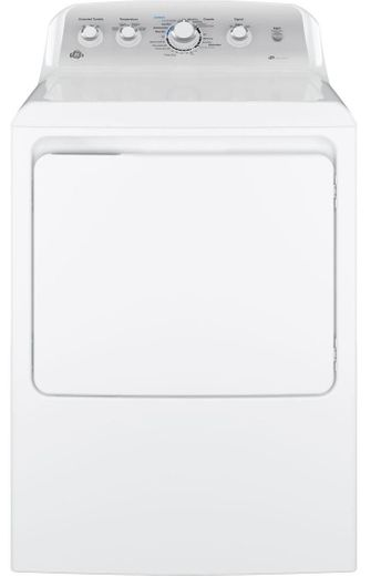 "GTD45EASJWS GE 27"" Electric Dryer with 7.2 cu. ft. Capacity 4 Drying Cycles - White"