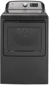 """GTD72EBPNDG GE 27"""" Front-Load 7.4 cu. ft. Capacity Electric Dryer with HE Sensor Dry and Wrinkle Care - Diamond Gray"""