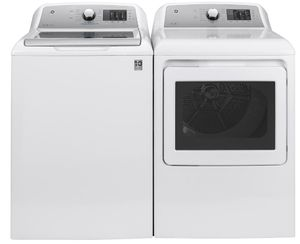 "GTD72EBSNWS GE 27"" Front-Load 7.4 cu. ft. Capacity Electric Dryer with HE Sensor Dry and Wrinkle Care - White"