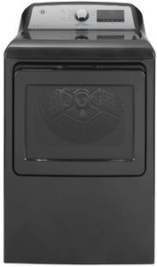 "GTD84ECPNDG GE 27"" Front-Load 7.4 cu. ft. Capacity Electric Dryer with HE Sensor Dry and Built In Wifi - Diamond Gray"