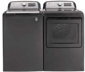 "GTD84GCPNDG GE 27"" Front-Load 7.4 cu. ft. Capacity Gas Dryer with HE Sensor Dry and Built In Wifi - Diamond Gray"