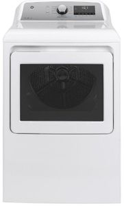 """GTD84GCSNWS GE 27"""" Front-Load 7.4 cu. ft. Capacity Gas Dryer with HE Sensor Dry and Built In Wifi - White"""