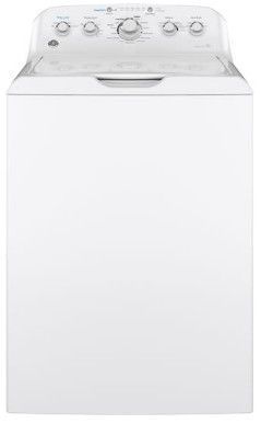 GTW465ASNWW GE 4.5 cu. ft. Capacity Washer with Deep Rinse and Dual Action Agitator - White