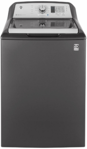 "GTW685BPLDG LG 27"" 4.5 Cu. Ft. Top Load Washer with Dual-Action Agitator and Soft-Close Glass Lid - Diamond Gray"
