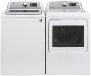"""GTW720BSNWS GE 27"""" Top Load 4.8 cu. ft. Capacity Washer with QuietWash and Tide PODS Dispense - White"""