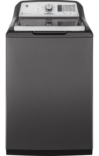 "GTW750CPLDG GE 27"" Top-Load 5.0 cu. ft. Capacity Washer with SmartDispense Technology and WiFi Connect - Gray"