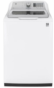 "GTW755CSMWS GE 27"" Top Load 4.9 cu. ft. Capacity Washer with Dual Action Agitator and SmartDispense Technology - White"