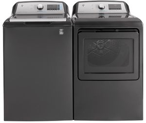 "GTW840CPNDG GE 27"" Top Load 5.2 cu. ft. Capacity Washer with SmartDispense Technology and BuiltIn Wifi - Diamond Gray"