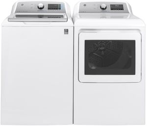 "GTW845CSNWS GE 27"" Top Load 5.0 cu. ft. Capacity Washer with SmartDispense Technology and Wifi - White"