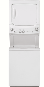 "GUD27GSSMWW GE 27"" Laundry Center with Washer and 5.9 cu ft. Gas Dryer with Rotary Electronic Controls and 11 Wash Cycles - White"