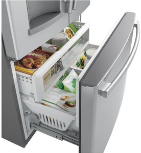 """GYS22GSNSS GE 36"""" Counter-Depth French Door Refrigerator with Turbo Cool and Turbo Freeze Settings - Stainless Steel"""