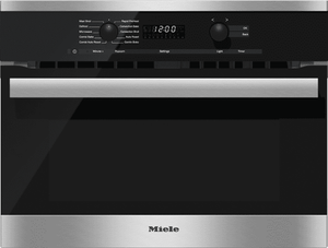 """H6200BMSS Miele 60 cm (24"""") PureLine EasyControl DirectSelect Speed Oven - Stainless Steel -OPEN BOX"""